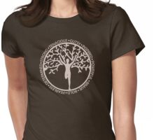 Tree of Life Runner Girl Womens Fitted T-Shirt