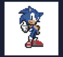 Sonic The Hedgehog Pixel Art Kids Tee