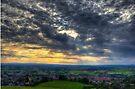 Sunset at Glastonbury Tor by Nigel Bangert