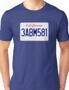 Mr Wolf license plate: California 3ABM581 Unisex T-Shirt
