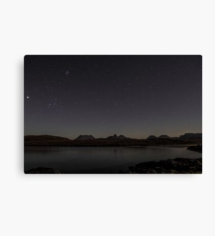 Assynt Night Sky Canvas Print