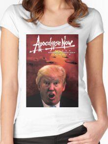 Donald Trump Apocalypse Now Women's Fitted Scoop T-Shirt