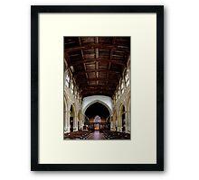 Inside of St Peter and Paul's church in Lavenham 2 Framed Print