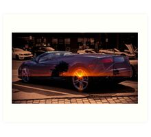 Lamborghini Sunrise Art Print