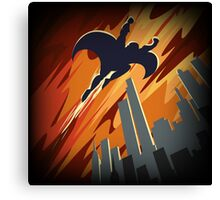 Flying Super hero Canvas Print