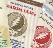 Grateful Dead Concert Tickets Sticker