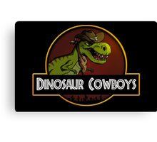Dinosaur Cowboys Canvas Print