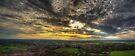 Glastonbury Tor Sunset Panoramic by Nigel Bangert