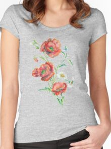 Red Poppies Women's Fitted Scoop T-Shirt