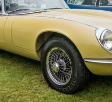 E Type Jaguar Convertible Sticker