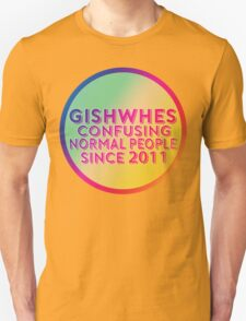 GISHWHES - Confusing Normal People Since 2011 (Rainbow) T-Shirt