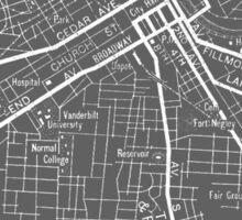 Nashville Tennessee Street Map Sticker