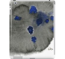 Abstract Black and Blue - Watercolor Painting iPad Case/Skin