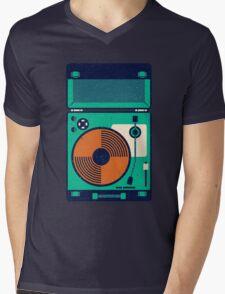 Record Player Mens V-Neck T-Shirt