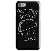 Taco Bell Saga (White) iPhone Case/Skin
