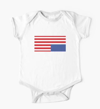 House Of Cards HOC Upside Down Flag Unofficial One Piece - Short Sleeve