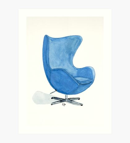 The Egg Chair - Watercolor Painting Art Print