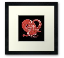 There be dragons Framed Print
