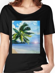 Beach Scene Women's Relaxed Fit T-Shirt