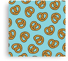 I Heart Pretzels Pattern Canvas Print