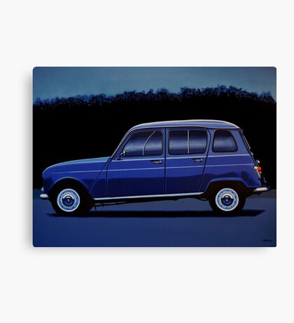 Renault 4 Painting Canvas Print