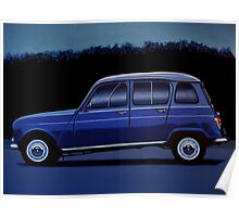 Renault 4 Painting Poster
