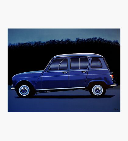 Renault 4 Painting Photographic Print