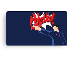 Objection lawyer Canvas Print