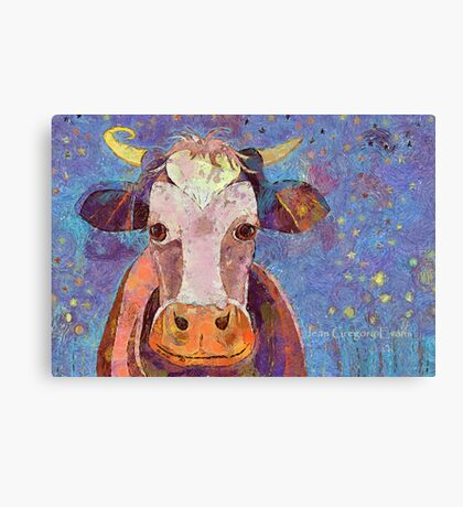 THE COW WITH THE CRUMPLED HORN Canvas Print