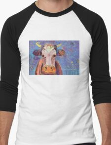 THE COW WITH THE CRUMPLED HORN Men's Baseball ¾ T-Shirt