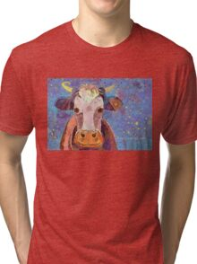 THE COW WITH THE CRUMPLED HORN Tri-blend T-Shirt