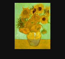 'Twelve Sunflowers' by Vincent Van Gogh (Reproduction) Womens Fitted T-Shirt