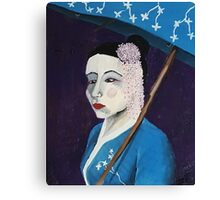 Portrait of a Geisha Canvas Print