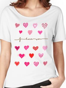 hearts (iphone case + tshirt + sticker) Women's Relaxed Fit T-Shirt