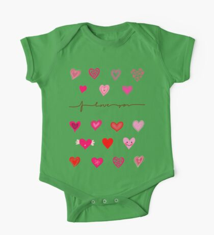 Cute Hearts One Piece - Short Sleeve