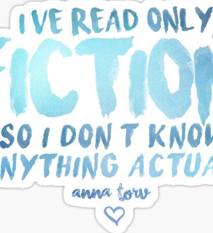 I've Read Only Fiction - Anna Torv (Blue) Sticker