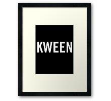 Kween Framed Print