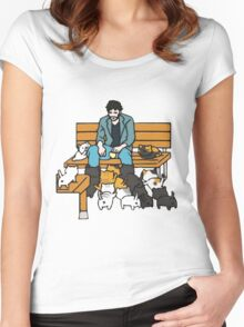 KEANU ATSUME Women's Fitted Scoop T-Shirt