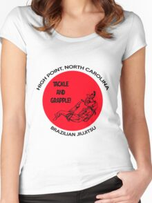 Tackle and Grapple! Women's Fitted Scoop T-Shirt