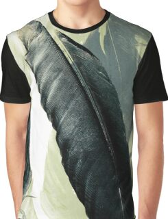 Two Raven Feathers Graphic T-Shirt