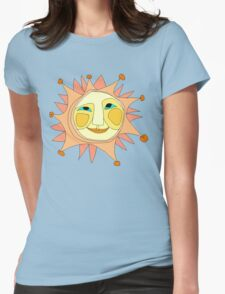 Sun Or Moon Or Stars Up In The Sky Womens Fitted T-Shirt