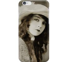 Miss Gish in a Floppy Hat iPhone Case/Skin