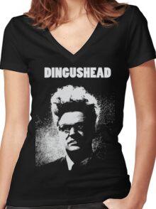 Dingushead Women's Fitted V-Neck T-Shirt