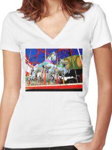 The Carousel Horsey's Secret Women's Fitted V-Neck T-Shirt