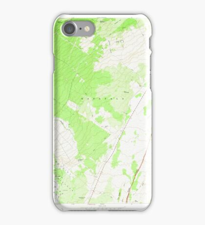 USGS TOPO Map Hawaii HI Wood Valley 349805 1967 24000 iPhone Case/Skin