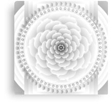 White Light Mandala Metal Print