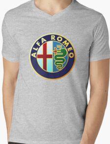 alfa romeo retro vintage Mens V-Neck T-Shirt