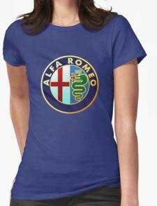 alfa romeo retro vintage Womens Fitted T-Shirt