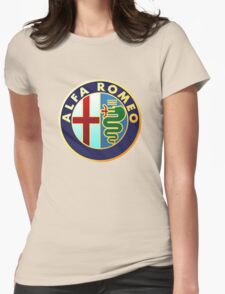 alfa romeo retro vintage Womens Fitted T-Shirt