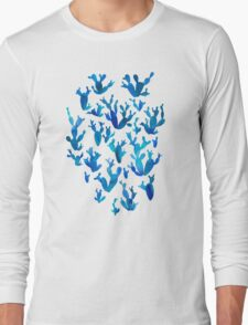 Desert night with cactus Long Sleeve T-Shirt